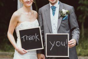 bedankje voor de bruiloft
